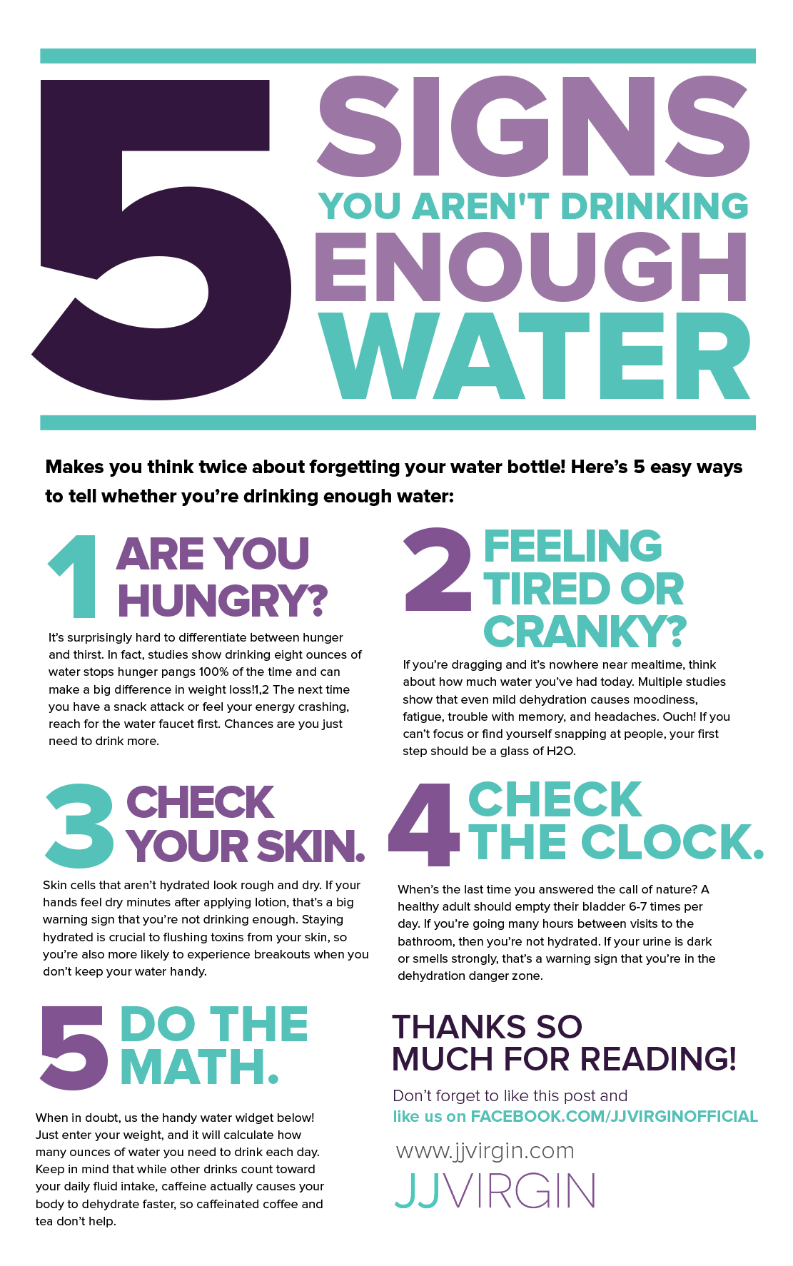 5 Signs Youre Not Drinking Enough Water